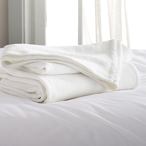 Siesta White Blanket Crate And Barrel Like Pinterest