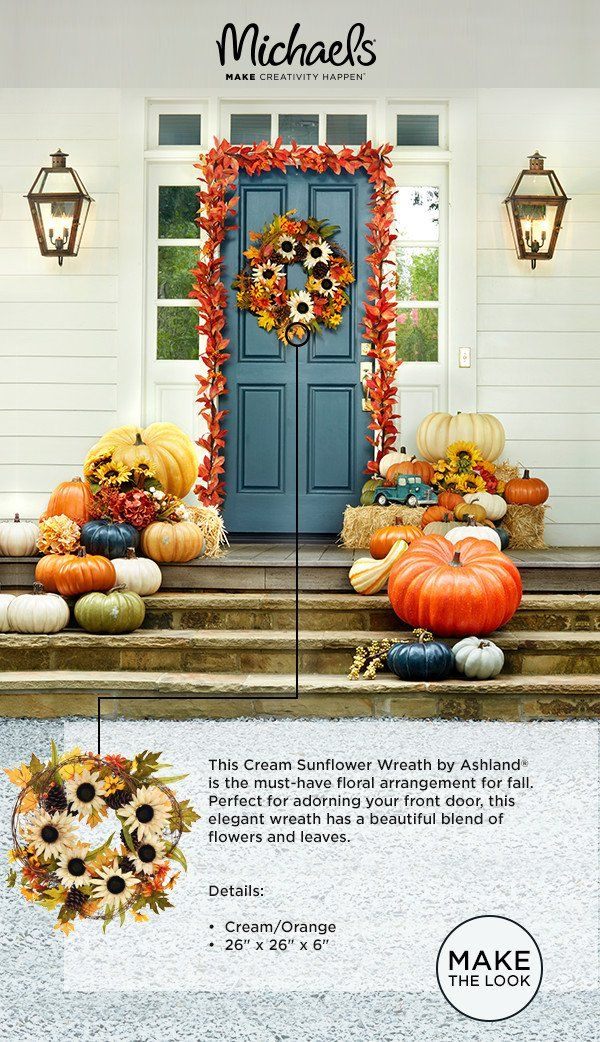 When #fall knocks, answer it with #Michaels! Bust out the #pumpkins and fuzzy socks and cozy up to your very own #autumn utopia. Bring the warm hues of fall to your home with #wreaths, #décor, and more or brush off those #DIY's you've been wanting to try. However you #decorate, find just what you need at Michaels.