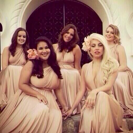 Lady Gaga was a bridesmaid at her friend's wedding! Twobirds tweet tweet