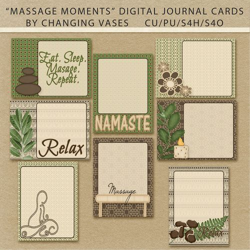 Massage Moments Free Digital Journal Cards by Changing Vases