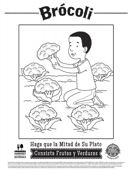 142 best Free Interactive Coloring Sheets English and Spanish - Food ...