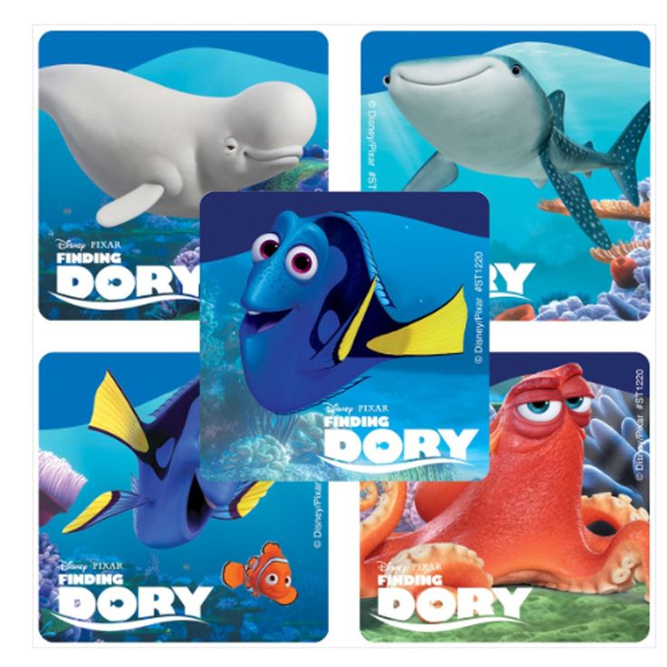Finding Dory Movie Party Favor Stickers - 75 ct