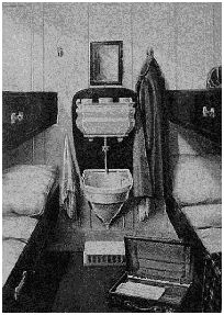 One of Titanic's third class cabins