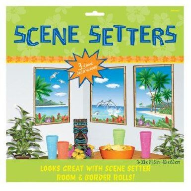 Tropical Sea View Scene Setters - Pack of 3: Amazon.co.uk: Toys & Games
