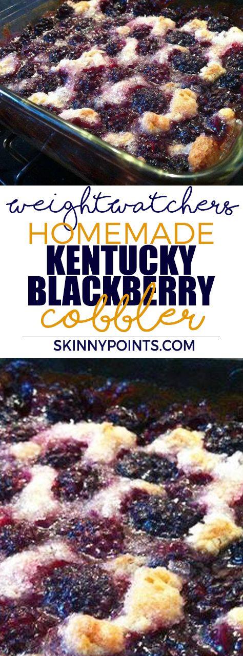 Homemade Kentucky Blackberry Cobbler weight watchers smart Points Friendly
