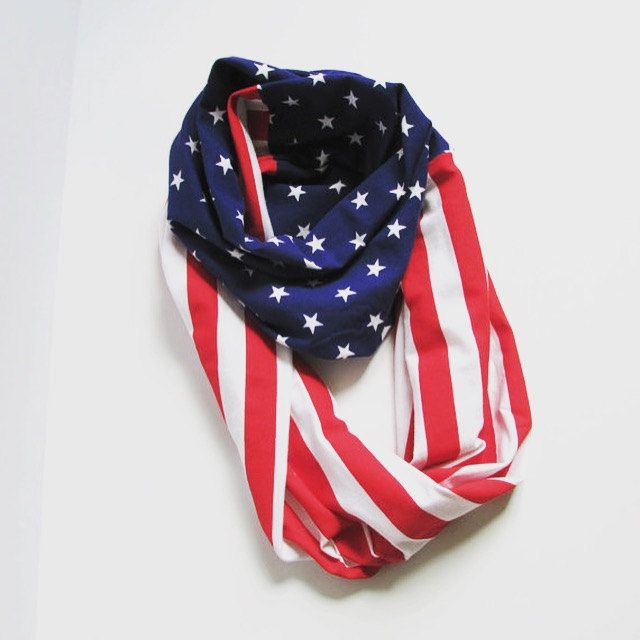 American Flag Infinity Scarf by InspireCollection on Etsy