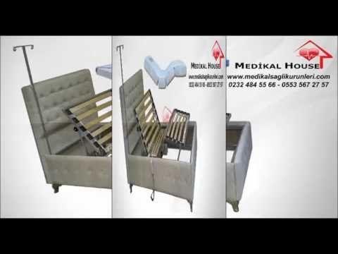 Hilton Ev Tipi Hasta Karyolası-Yatağı
