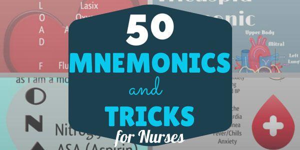50 Mnemonics & Tricks Every Nurse Should Know | NurseBuff #Mnemonics #Nurse
