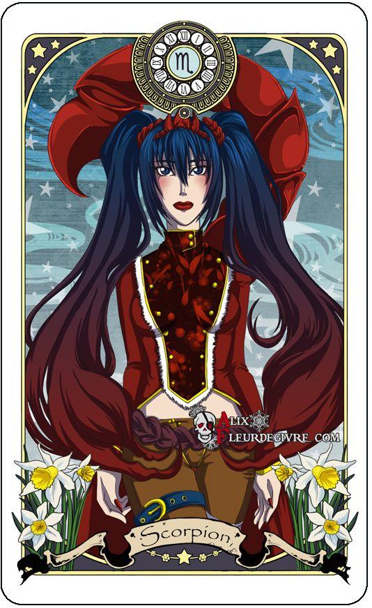 Astrology deck card: Scorpio by Alix-Aethusa on deviantART