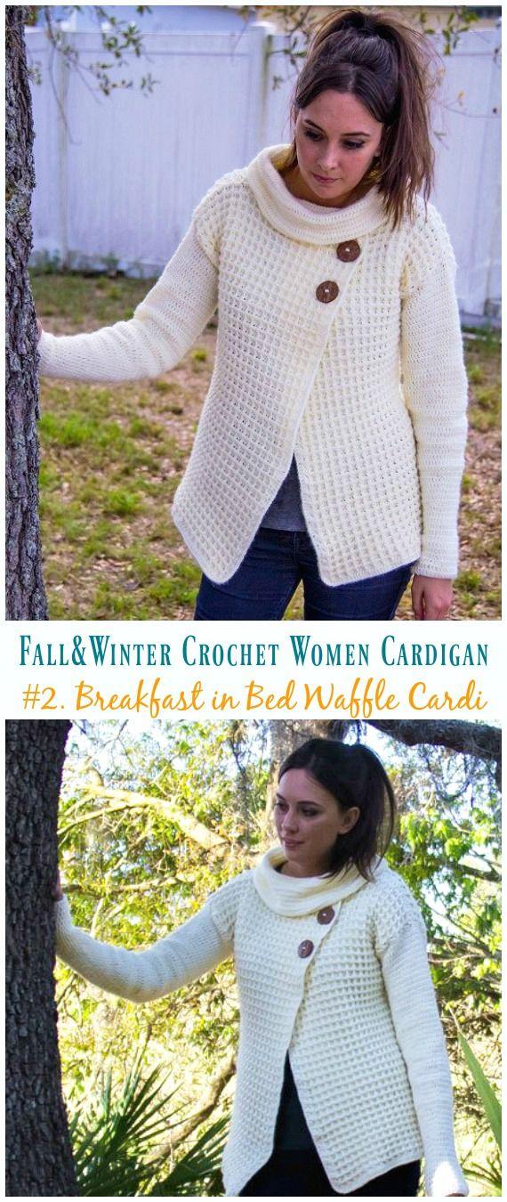 Fall & Winter Women Cardigan Free Crochet Patterns 17