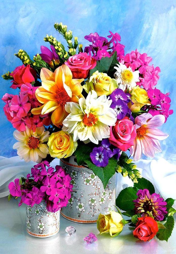 Открытка букет цветов женщине