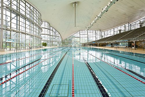 Olympia Schwimmhalle (Munich Olympic Pool) swam here when I was younger