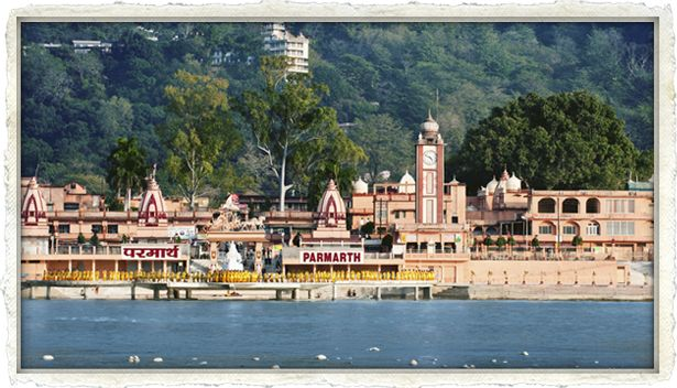 Parmarth Nikitan ashram on the banks of the holy Gange in Rishikesh. One of the world's best places.