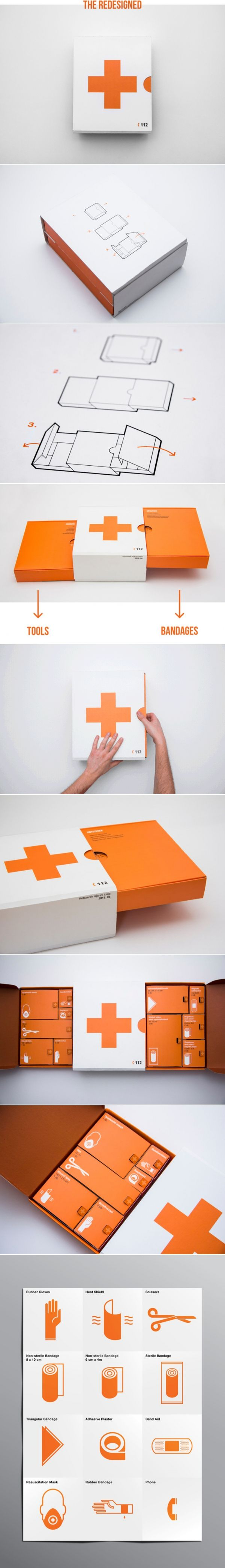 Concept: First Aid Kit - via https://www.behance.net/gallery/First-Aid-Kit/10177673