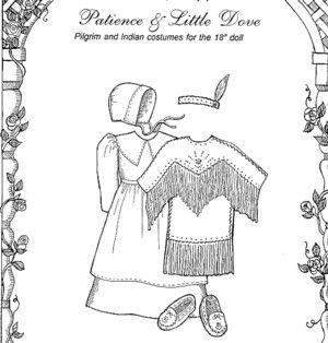 "Dolls - Pilgrim's Clothing - 18"" doll clothes-Dolls - Pilgrim's Clothing - for 18"