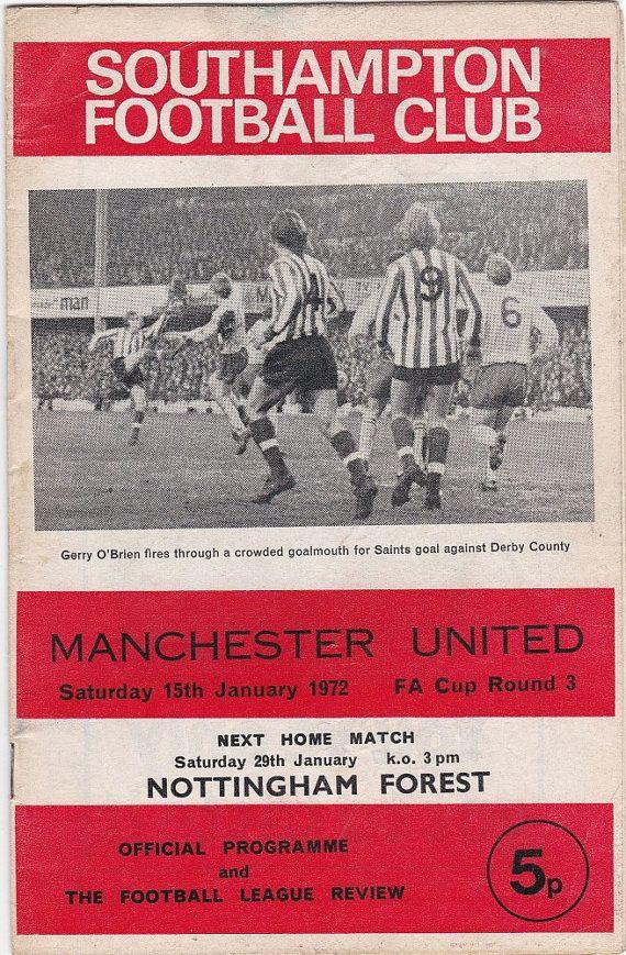 Vintage Football (soccer) Programme - Southampton v Manchester United, FA Cup, 1971/72 season #football #soccer #southampton #manunited