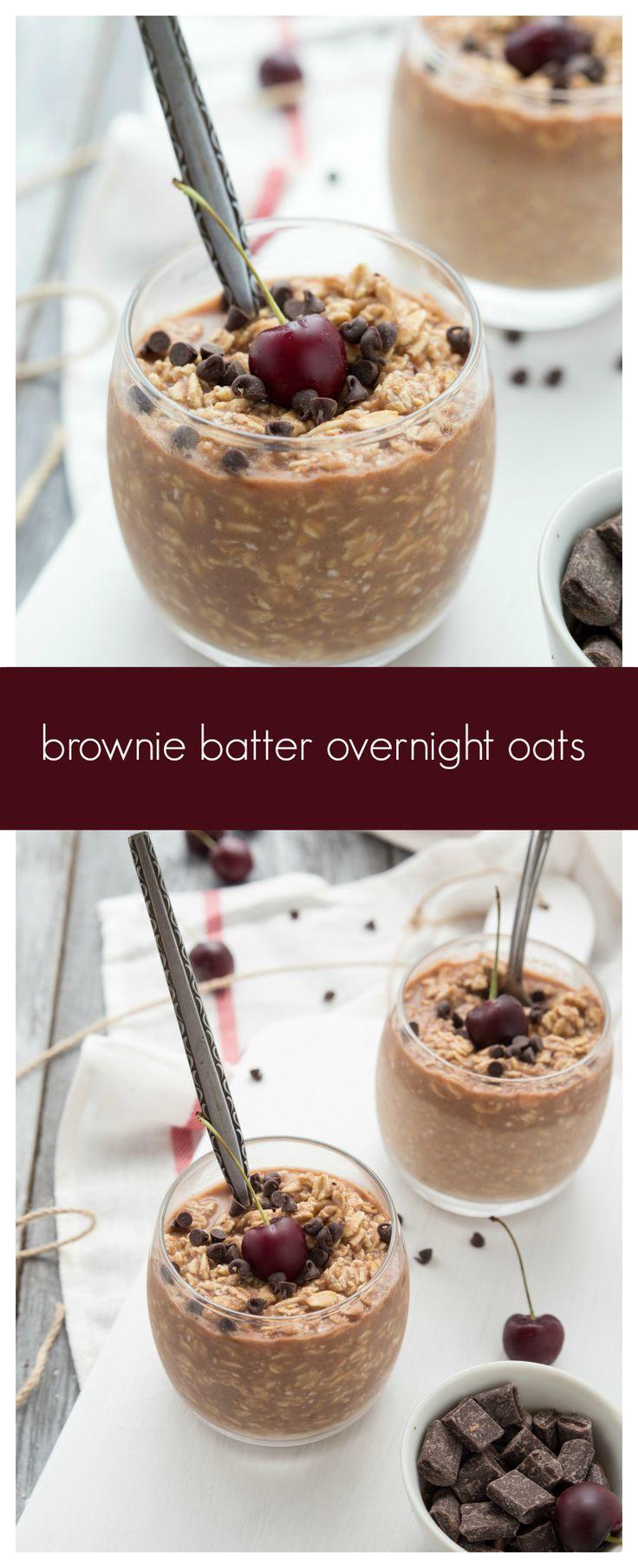 Double-Chocolate Brownie Batter Overnight Oats I via chelseasmessyapron.com I…