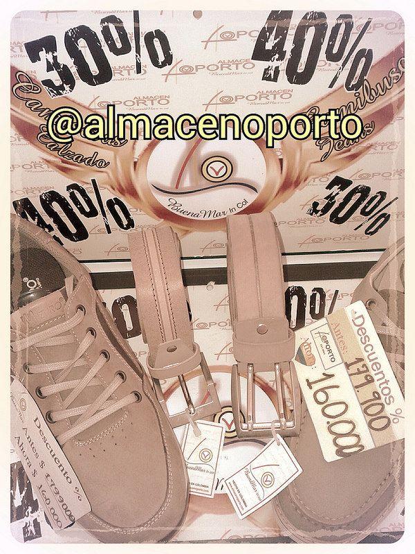 Calzado, correas @almacenoporto #Cartago #SigueLaNotaBuenaMarJeans 10% 20% 30% Promociones