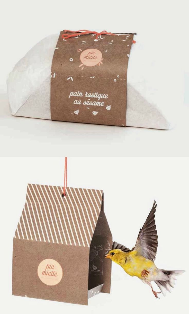This Bread Packaging Design Doubles as a Bird Feeder #takeout trendhunter.com