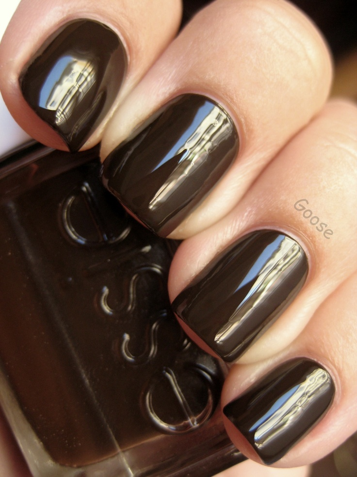 Essie - Little Brown Dress - Goose's Glitter: Makeup Hairs, Hairs Nails Makeup, Black Brown, Nails Color, Essie Little Brown Dresses, Nails Polish, Color Nails, Hairs Makeup, Fall Color
