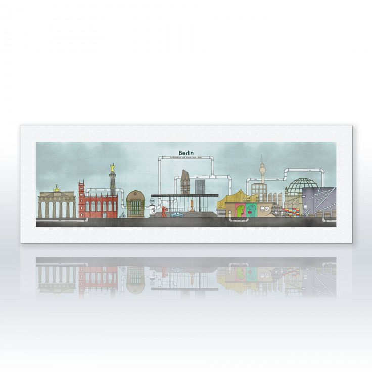 """Berlin"" Canvas print"