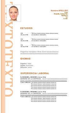 Modelo 12 Cv Curriculum Vitae Para Descargar