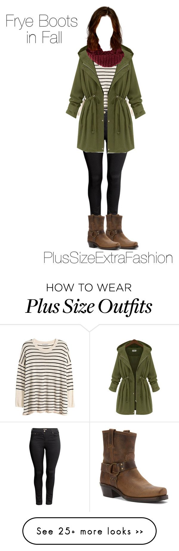 """""""Fall Outfit ft. Frye Boots Plus Size Outfit"""" by plussizeextrafashion on Polyvore featuring H&M, Frye, TOMS, plussize, fall2015 and plussizeextrafashion"""