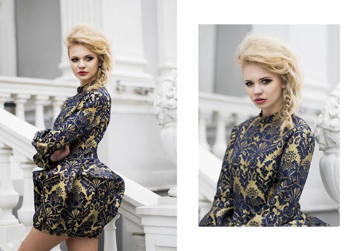 Projektant Gabriela Hezner   Model: Klaudia JawoRska / Klaudia Jaworska Fotomodelka MUA: Paulina Kruk Paulina Kruk Make Up Artist Hair: Elżbieta Borys Elisabeth B. - hair stylist