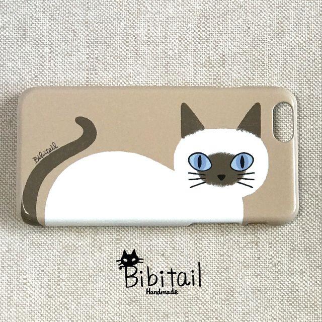 【送料込み】シャム猫 バーミーズ iPhone6/6s・7ケース