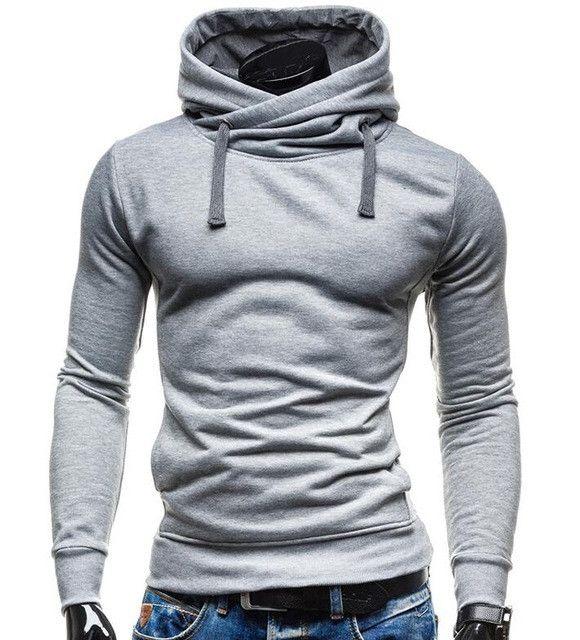 New Men's Turtleneck Pullover Hoodie