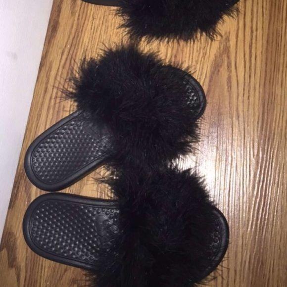Nike Fur Slip On (Puma Replicas) Custom Nike Slip On. Nike Shoes Sandals