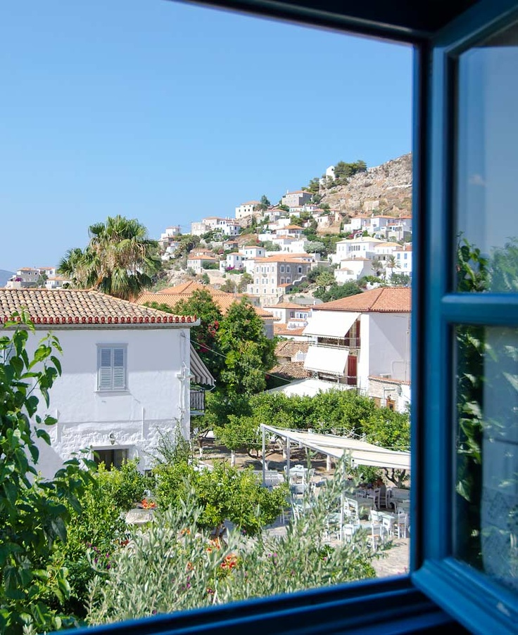 Classic Double Rooms Hydra Island | Orloff Hotel view