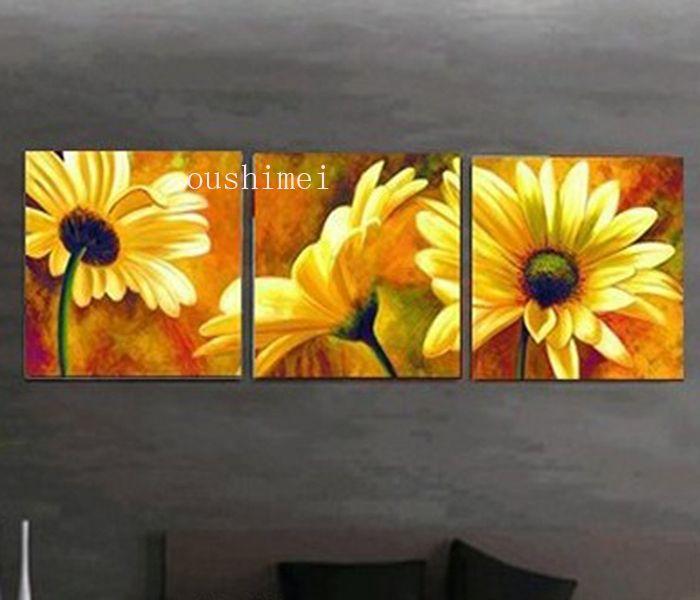 Las 25 mejores ideas sobre cuadros de girasoles en for Cuadros abstractos con marco