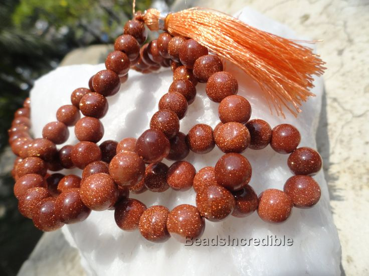 Goldstone Necklace Beads Sandstone Necklace Jewelry 8MM 108 Beads Premium Qualit