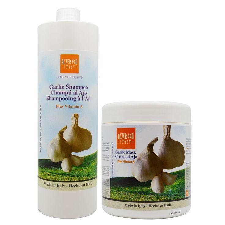 Alter Ego 33.8-ounce Garlic Shampoo and Garlic Vitamin A Mask (Garlic Shampoo and Garlic Mask)