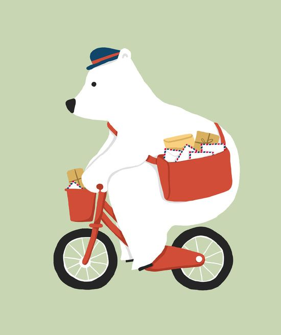 Poster | POLAR BEAR POSTAL EXPRES von Budi Kwan | more posters at http://moreposter.de