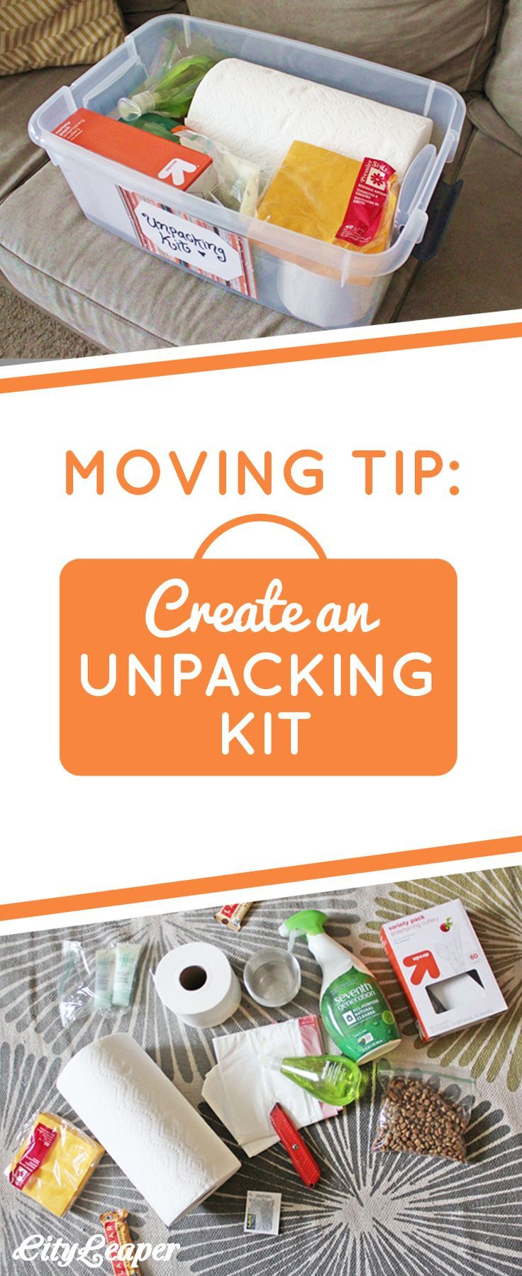 After moving multiple times and not following this tip, I quickly realized the importance of prepping a box of essentials to get through that first day or two.