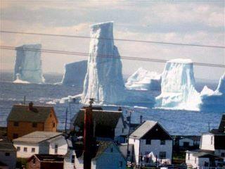 Iceburgs in Bonavista Bay , Newfoundland