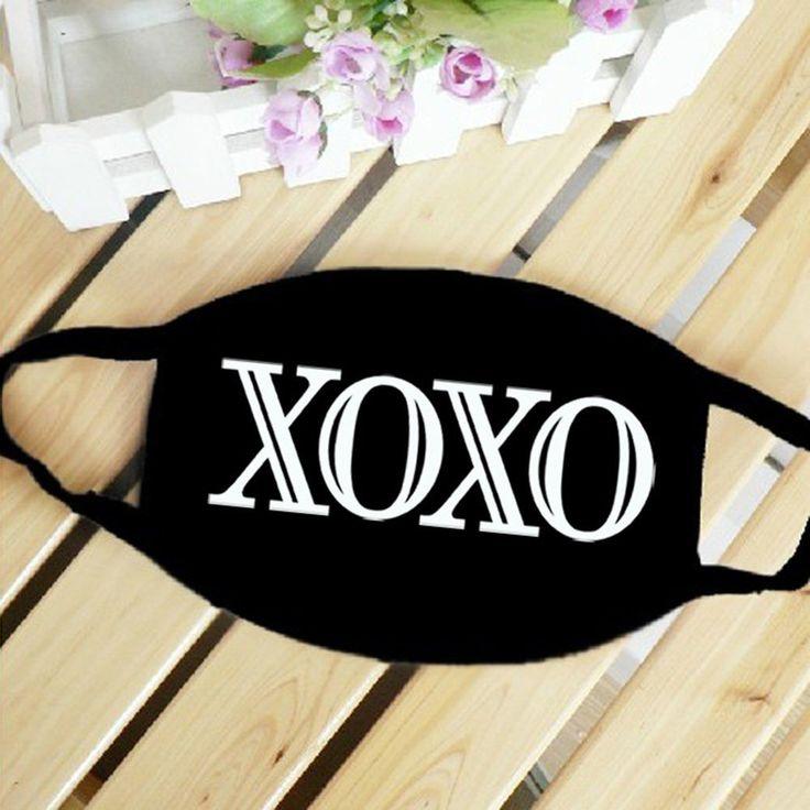 EXO XOXO Album Styled Letter EXO-L Fandom Fashionable Face Mask #EXO #XOXO #Album #Styled #Letter #EXOL #Fandom #Fashionable #Facemask #KidolStuff