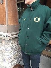 Oregon Duck Wool Nike Button Letterman Jacket XL Green Civil War Free Ship Mint