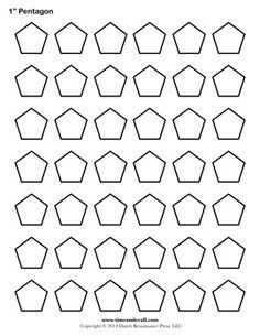 Pentagon Template. Free printable for English Paper Piecing.
