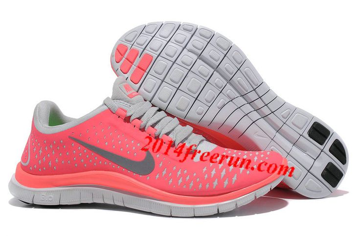 Womens Nike Free 3.0 V4 Hot Punch Reflective Silver Pro Platinum Shoes