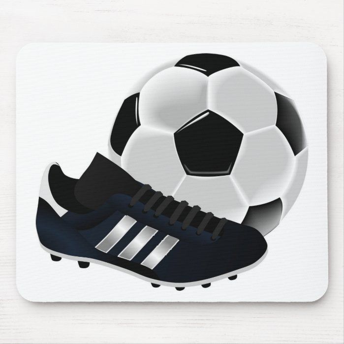 Soccer Themed Mousepad Zazzle Com Soccer Party Soccer Ball Soccer