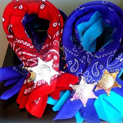 Cowboy Party Favors by Alyssa K  ~Our fun idea for her daughter's cowgirl party http://partieswithcake.blogspot.com/