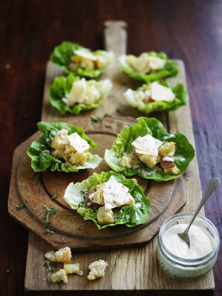 Fresh, crunchy little gem caesar salad cups are quick and simple to create.