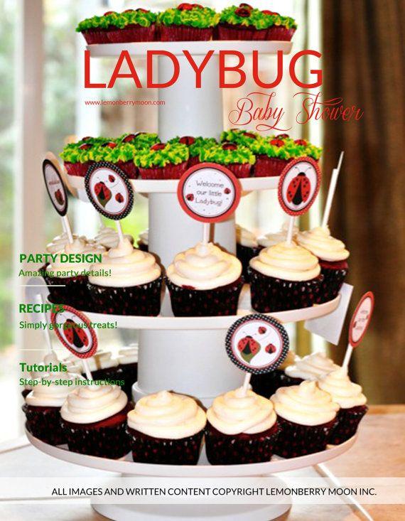 Ladybug Baby Shower Party Plan INSTANT por LemonberryMoon