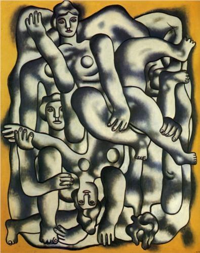 Acrobats in gray - Fernand Leger, 1944