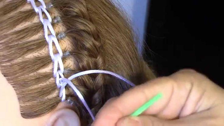 Encintado Cadeneta para un Peinado  - Chain Weave for a Hairstyle