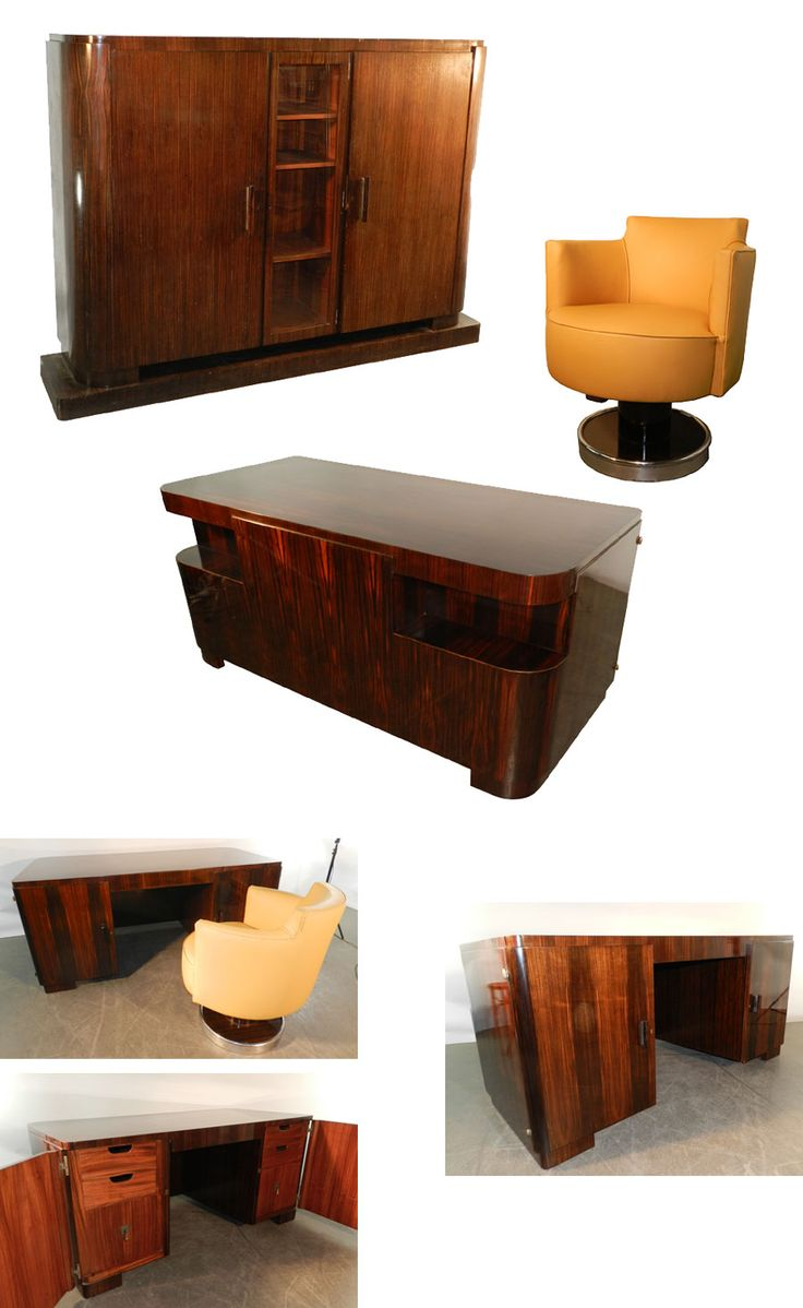 les 19 meilleures images propos de bureaux art deco sur pinterest art d co bureaux et placards. Black Bedroom Furniture Sets. Home Design Ideas
