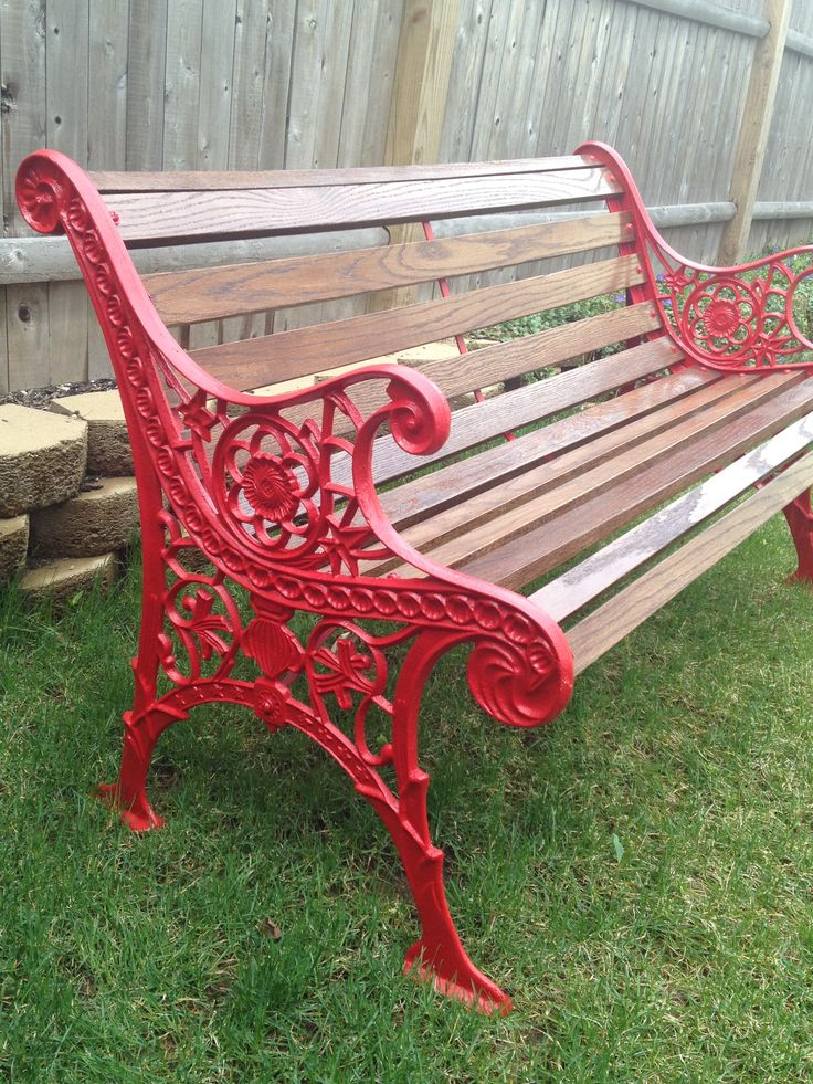 Vintage Cast Iron Bench Restored Cast Iron Benches